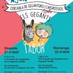 Els Gegants de La Tabor participen a la Festa Major de la Sagrada Família