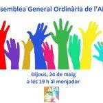 ASSEMBLEA GENERAL ORDINÀRIA DE SOCIS DE L'AFA CURS 2017-18