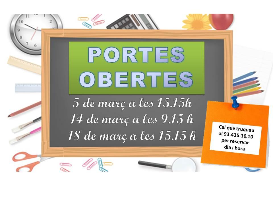 PORTES OBERTES 2018 – 19